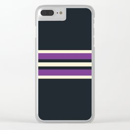 Classic Retro Stripes Asagi Clear iPhone Case