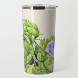 Artichokes and their Blossoms Travel Mug