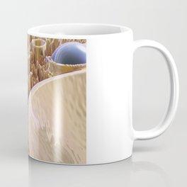Macro Fractal With Blue Spheres Coffee Mug