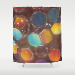 Tile Sunrise Shower Curtain