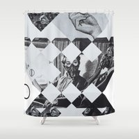 clear Shower Curtains featuring Clear sky by WeLoveHumans