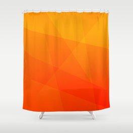 Orange Sunset Shower Curtain
