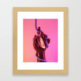 DREAMY ICE CREAM LOVE SWIRL Framed Art Print