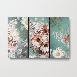 Pastel Bohemian Floral Metal Print
