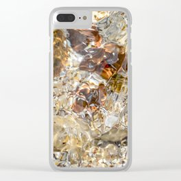 Golden Ripples by Teresa Thompson Clear iPhone Case