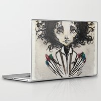 edward scissorhands Laptop & iPad Skins featuring Edward Scissorhands by Estrela de Papel