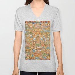 Mandala Buddhist 14 Unisex V-Neck