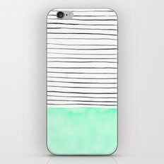 Stripes and watercolor iPhone & iPod Skin