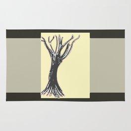 unblinking tree Rug
