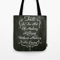 lettering Tote Bags featuring Lettering 001 by Noem9 Studio
