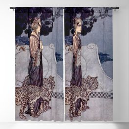 """""""Circe With Leopards"""" by Edmund Dulac Blackout Curtain"""