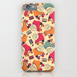 Roller skates pattern 03 iPhone Case