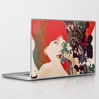 black widow Laptop & iPad Skins featuring Black Widow by Beruna Girl