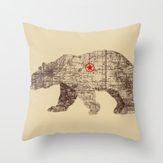 Bearlin Throw Pillow