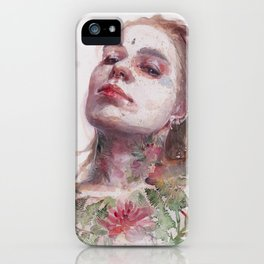 Leaves on Skin iPhone Case