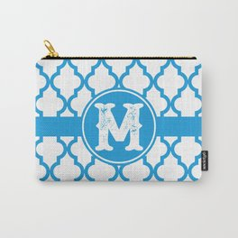 Blue Monogram: Letter M Carry-All Pouch