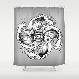WITHIN THE EYE OF THE STORM Shower Curtain