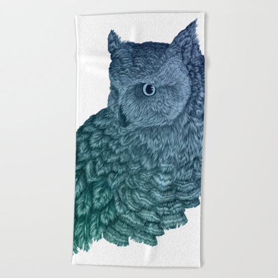 Ombre Owl II Beach Towel