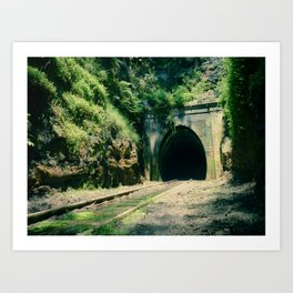 Train Tunnel Entrance Art Print