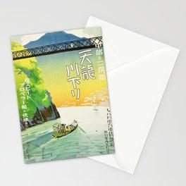 Tenryu River boat tour from Nakappe to Futamata (Nagoya Rail Agency, 1930s) Stationery Cards