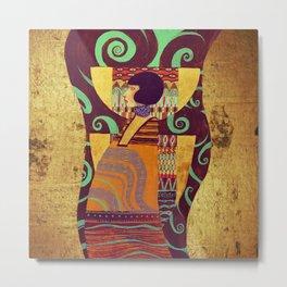Dame Gold Metal Print