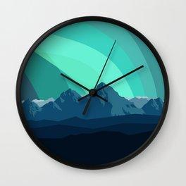 Alaska Night Wall Clock