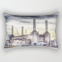 Battersea Power-Station London Snow Rectangular Pillow