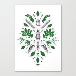 Orienteering insects Canvas Print