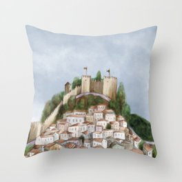 Lisboa landscape Throw Pillow