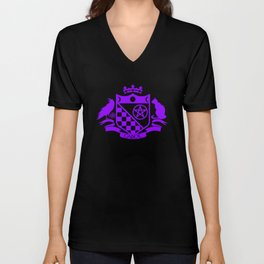 Samhain Purple on Black Unisex V-Neck