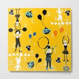 Acrobat yellow Metal Print