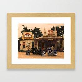 Trip through the past. Framed Art Print