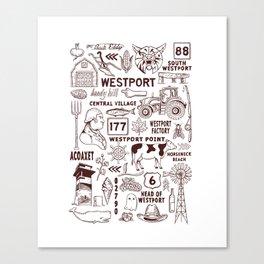 Westport Massachusetts Print Canvas Print