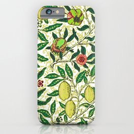William Morris Exotic Fruit, Lemons and Pomegranates iPhone Case