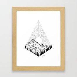 Mountain sunrise II Framed Art Print