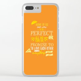 Love is the best thing we do Clear iPhone Case