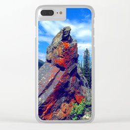 Mysterious, Magical Rock Clear iPhone Case