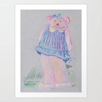 teddy bear Art Prints featuring teddy bear by Artemio Studio