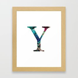 "Initial letter ""Y"" Framed Art Print"