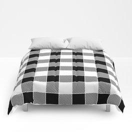 Buffalo Check - black / white Comforters