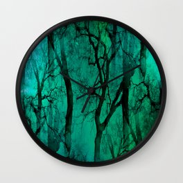 Glamour Trees (green) Wall Clock