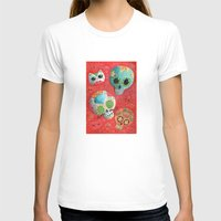 sugar skulls T-shirts featuring Mexican Sugar Skulls by Madame Colonelle