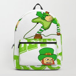 """Guys! Have This St. Patrick's Tee Saying """"Let's Get Sham Rocked!"""" T-shirt Design Irish Four-Cleaf Backpack"""