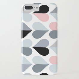 Love and Kisses in Pink and Grey iPhone Case