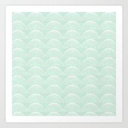 Geometric Umbrellas by Friztin Art Print