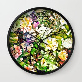 Scattered Blooms And Verdure Wall Clock