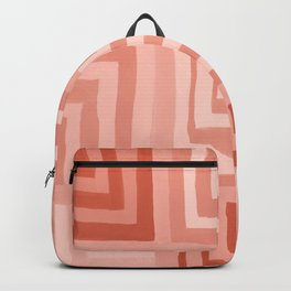 Painted Color Block Squares in Peach Backpack