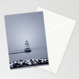 Burlington Breakwater North Lighthouse Stationery Cards