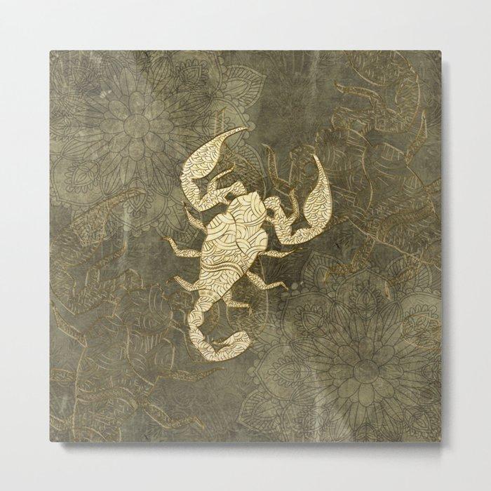 Beautiful scorpion mandala Metal Print