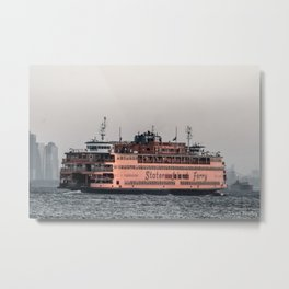 """The Boat"" , Staten Island Ferry Metal Print"
